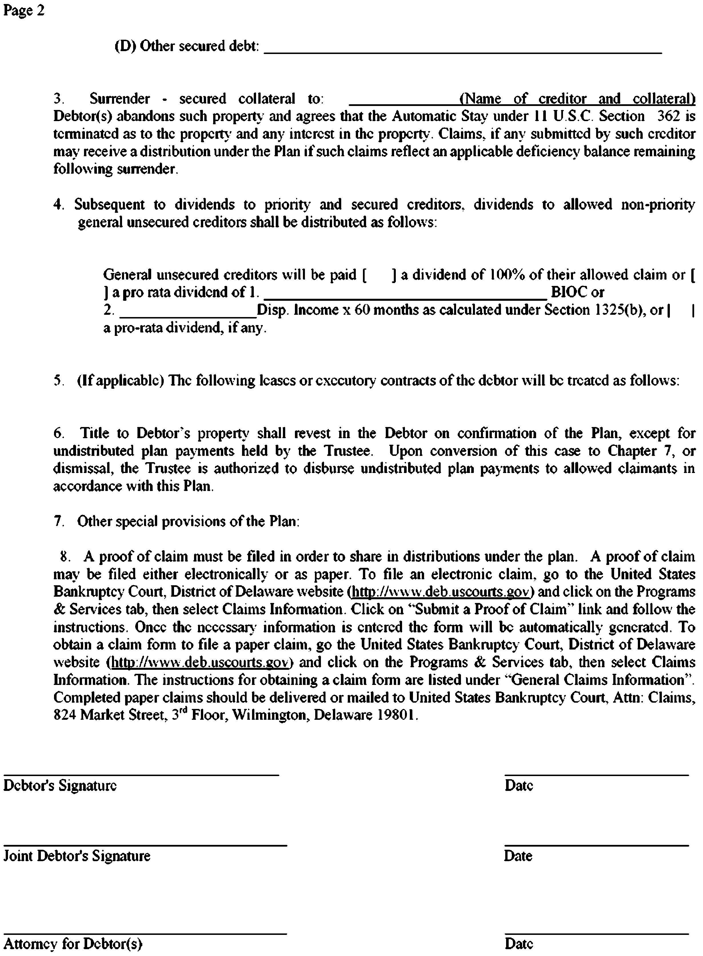 Delaware DE R USBCT Form 103 | FindLaw
