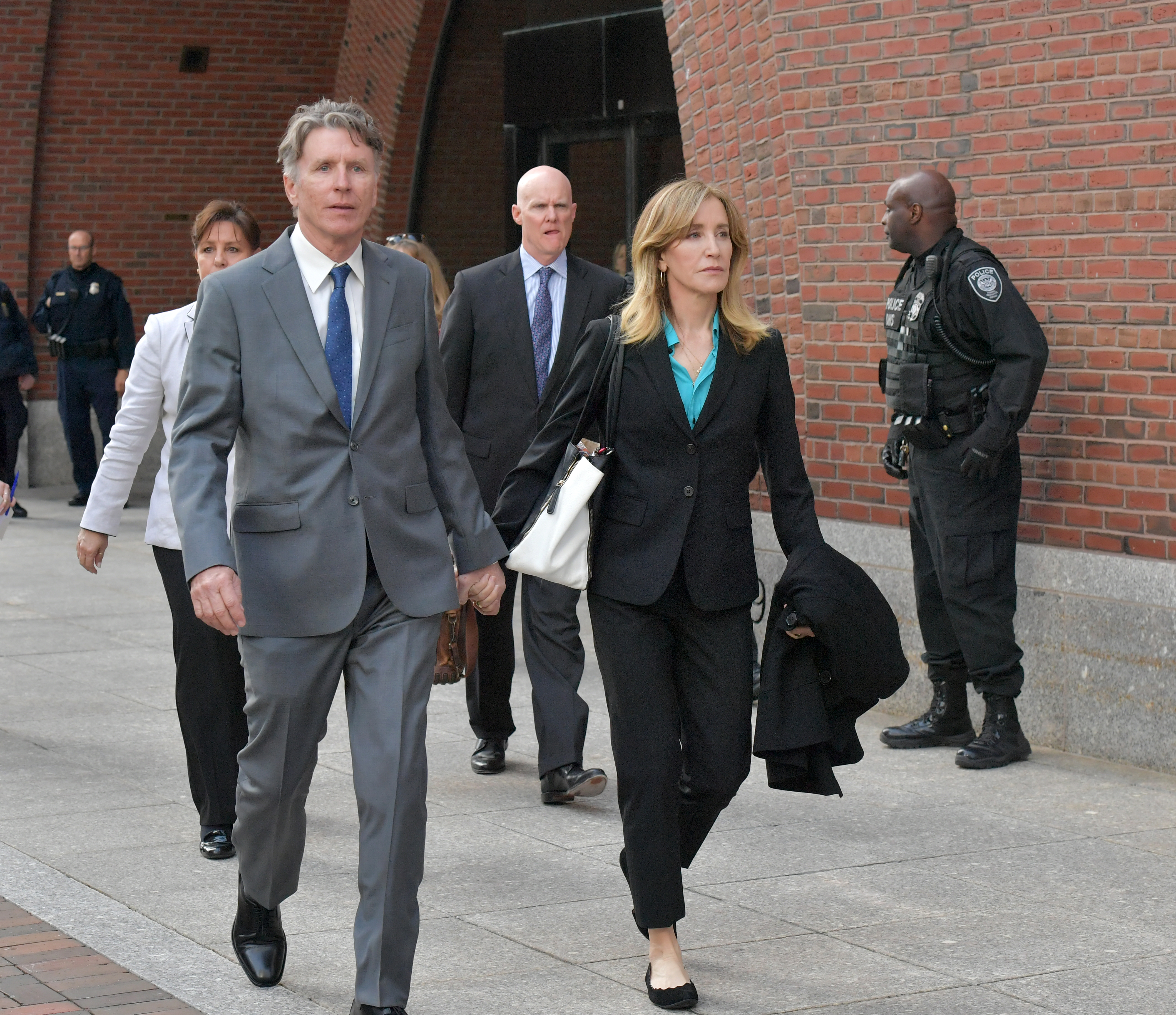 Felicity Huffman Goes To Court
