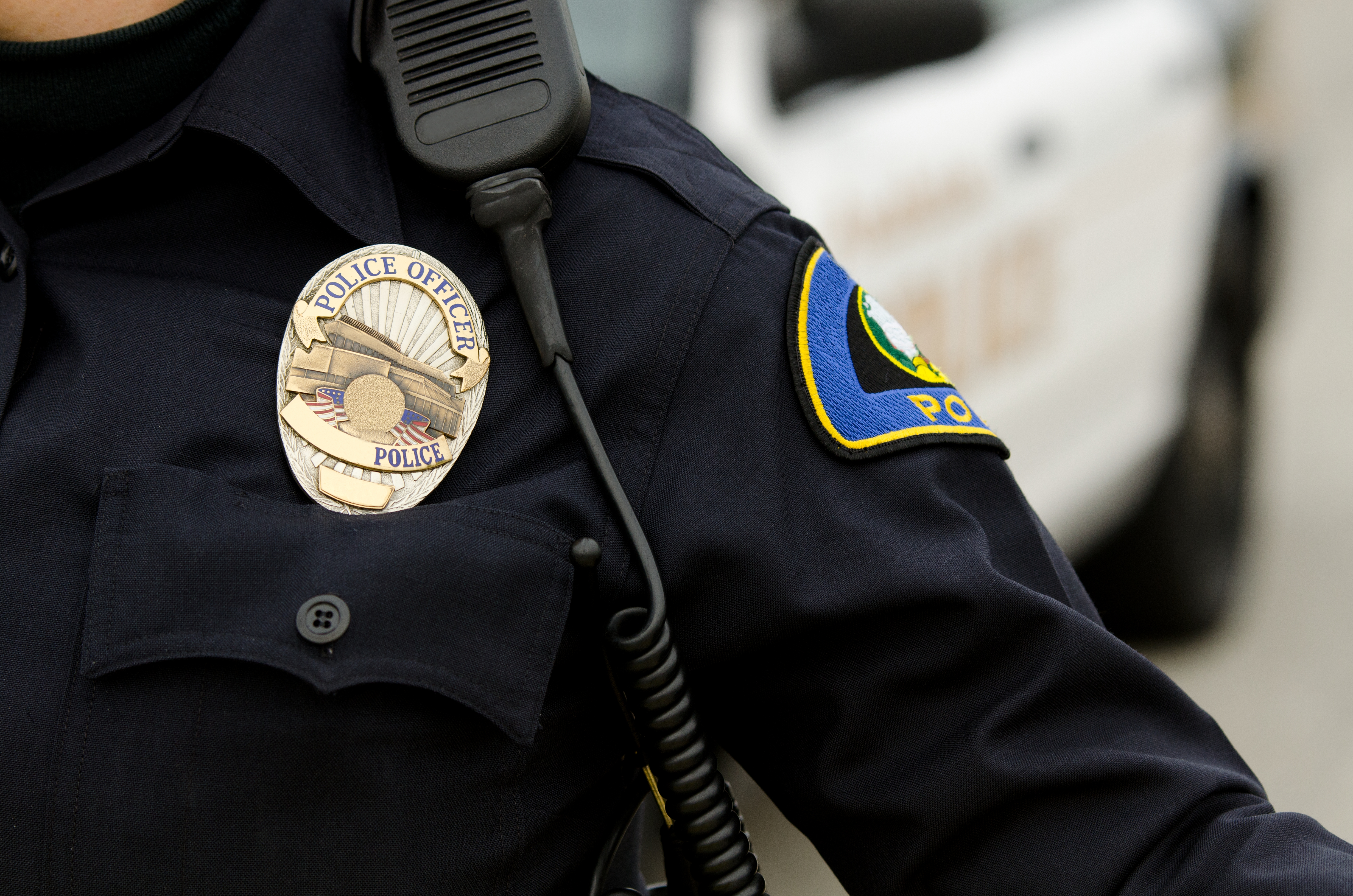 Police officer pulls driver over