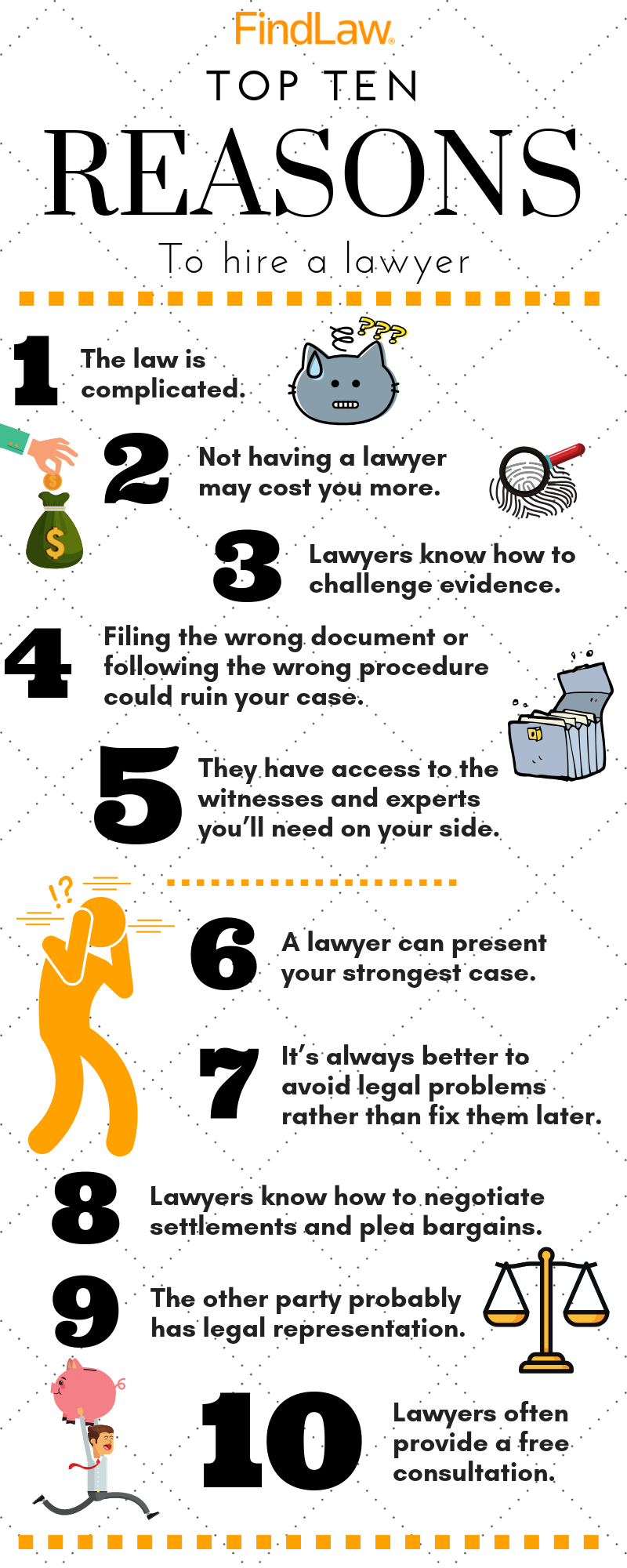 Top Ten Reasons to Hire a Lawyer